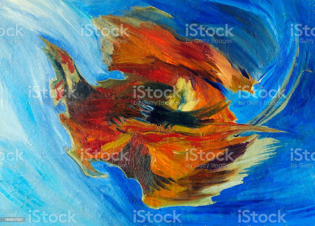 Abstract Oil Painting Multicolored Texture Background Pattern royalty-free stock photo