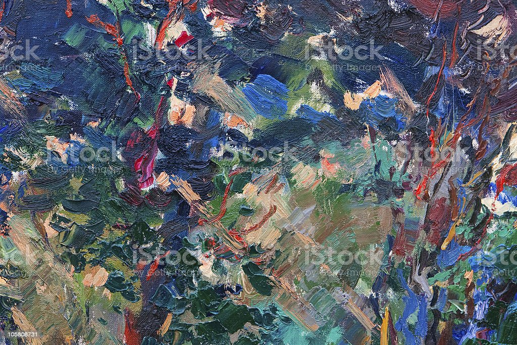 Abstract oil paints stock photo
