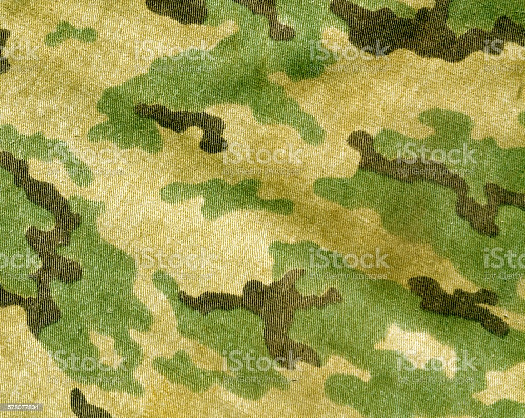 Abstract old camouflage cloth texture. stock photo