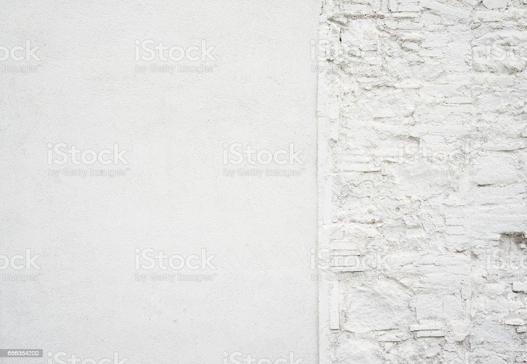 Abstract old grungy empty background.Photo of blank white concrete wall texture. Grey washed cement surface.Horizontal. stock photo