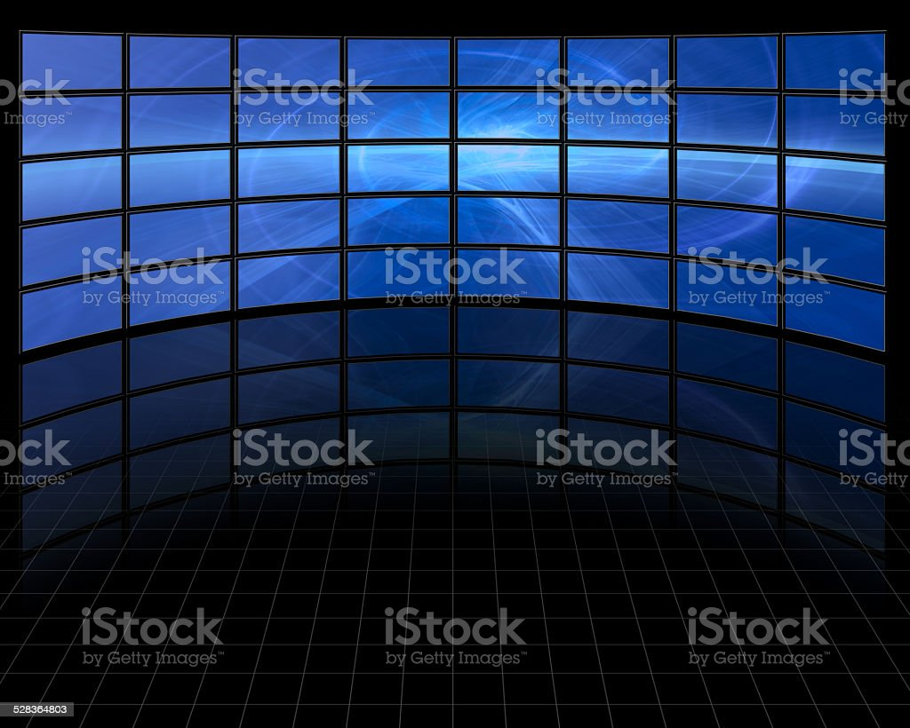 Abstract on Large Set of Screens stock photo