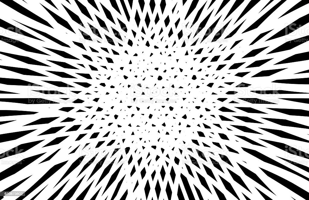Abstract Op Art in black and white stock photo
