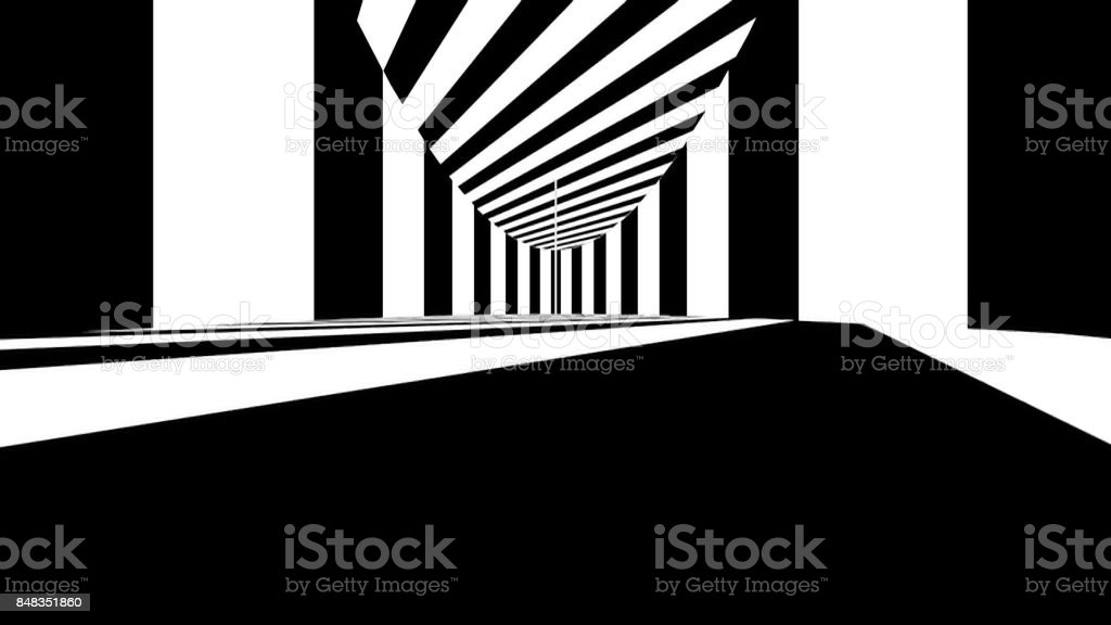 Abstract optical art. Black and white lines stock photo