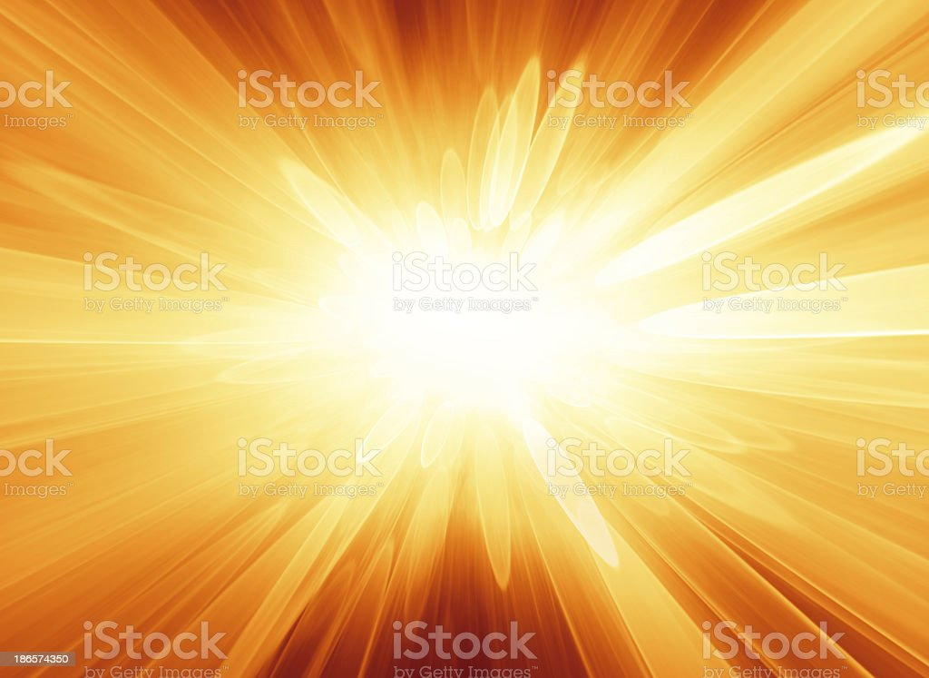 Abstract orange background looks like explosion or bright star royalty-free stock photo