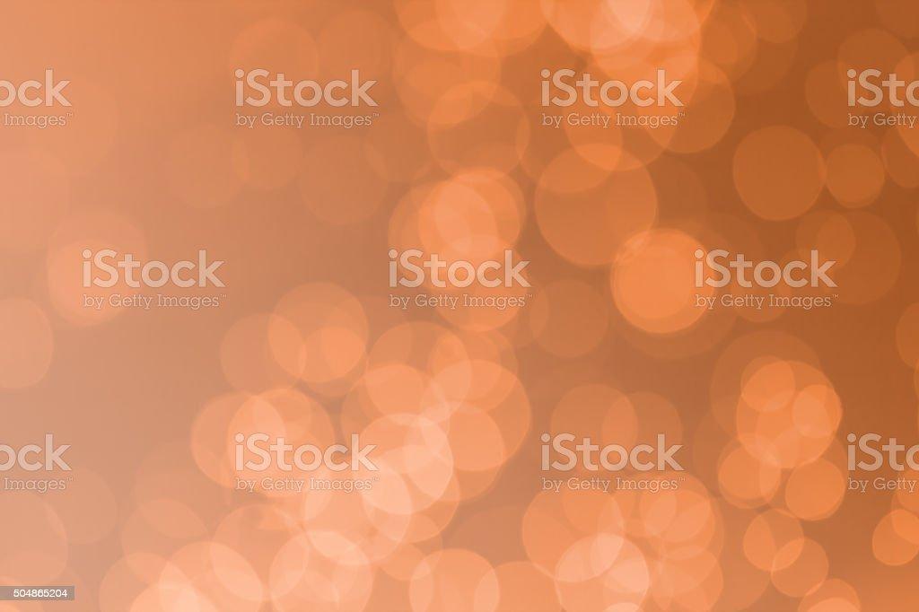 Abstract orange bokeh background stock photo