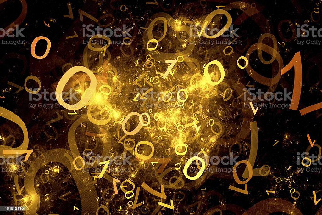 Abstract orange digit background royalty-free stock photo