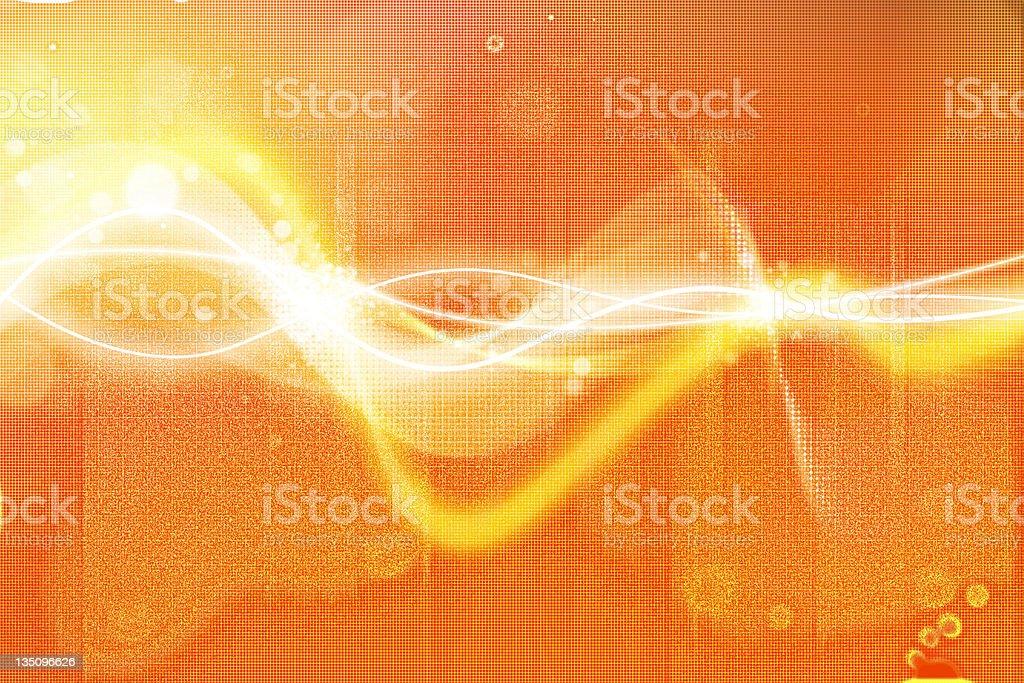 Abstract orange wavy background royalty-free stock photo