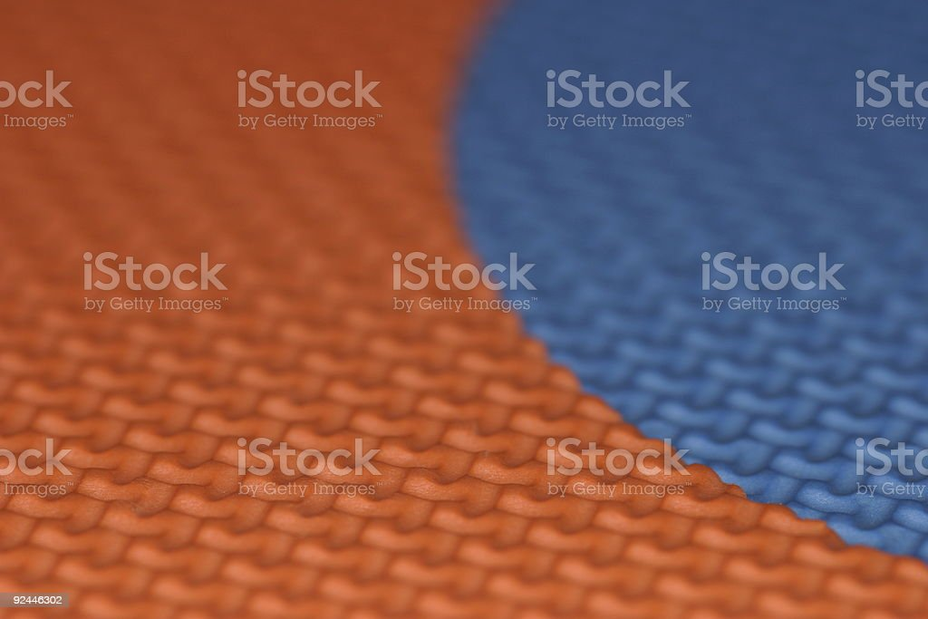 Abstract - orange/blue pattern royalty-free stock photo