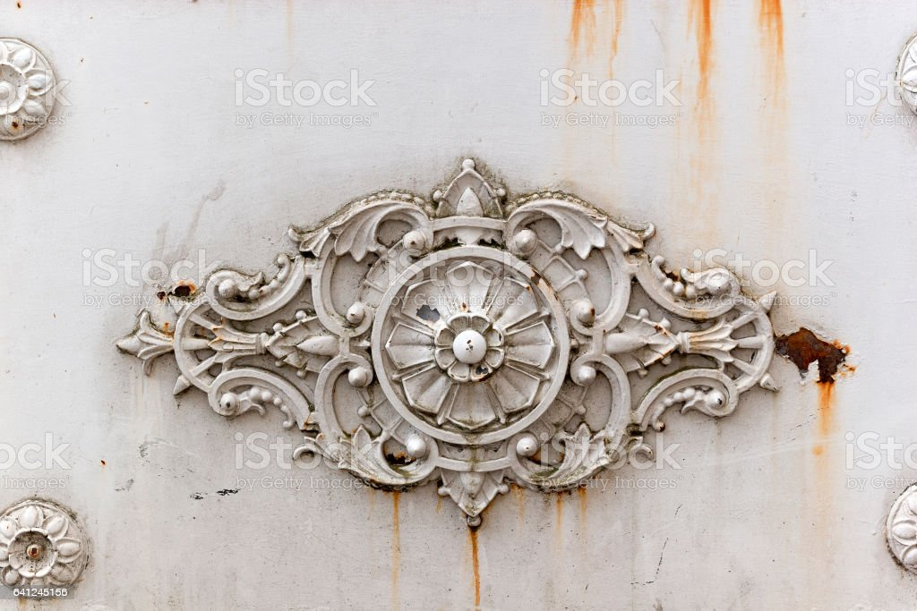Abstract ornamental metallic background stock photo