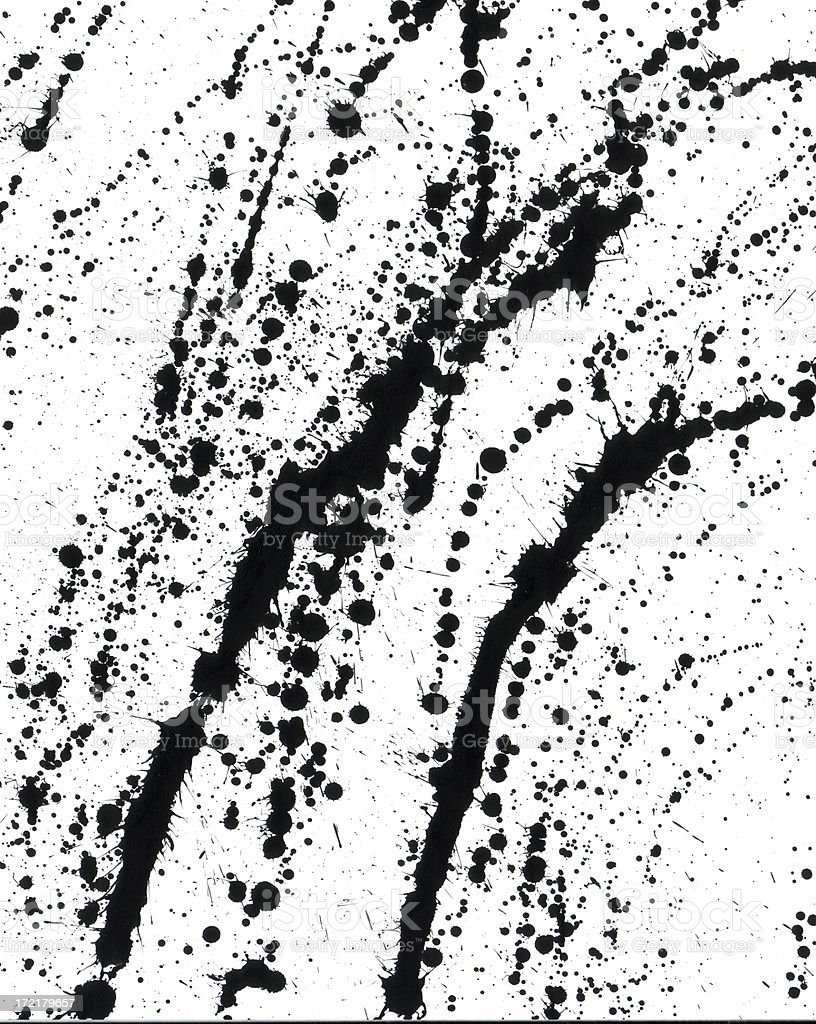 abstract paint drops ( large ) royalty-free stock photo