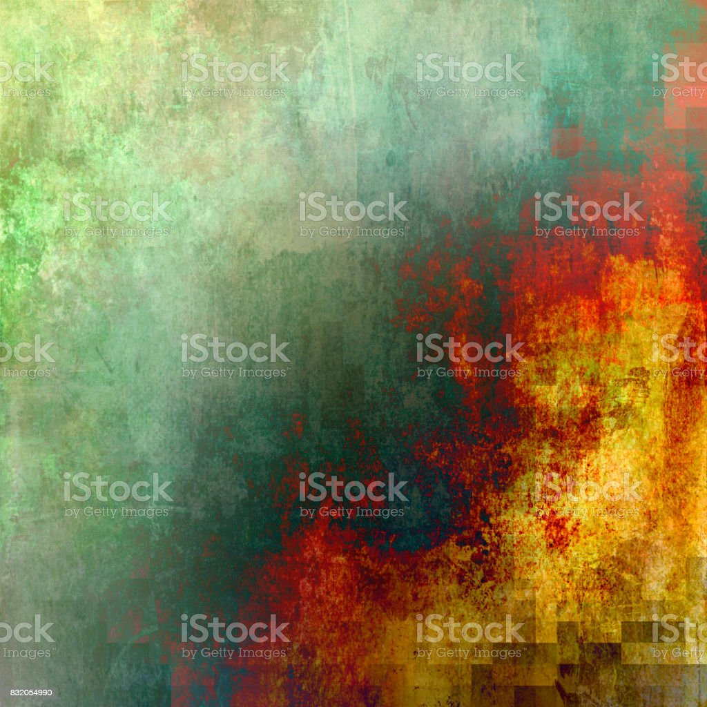 Abstract paint gradient with square grid added stock photo