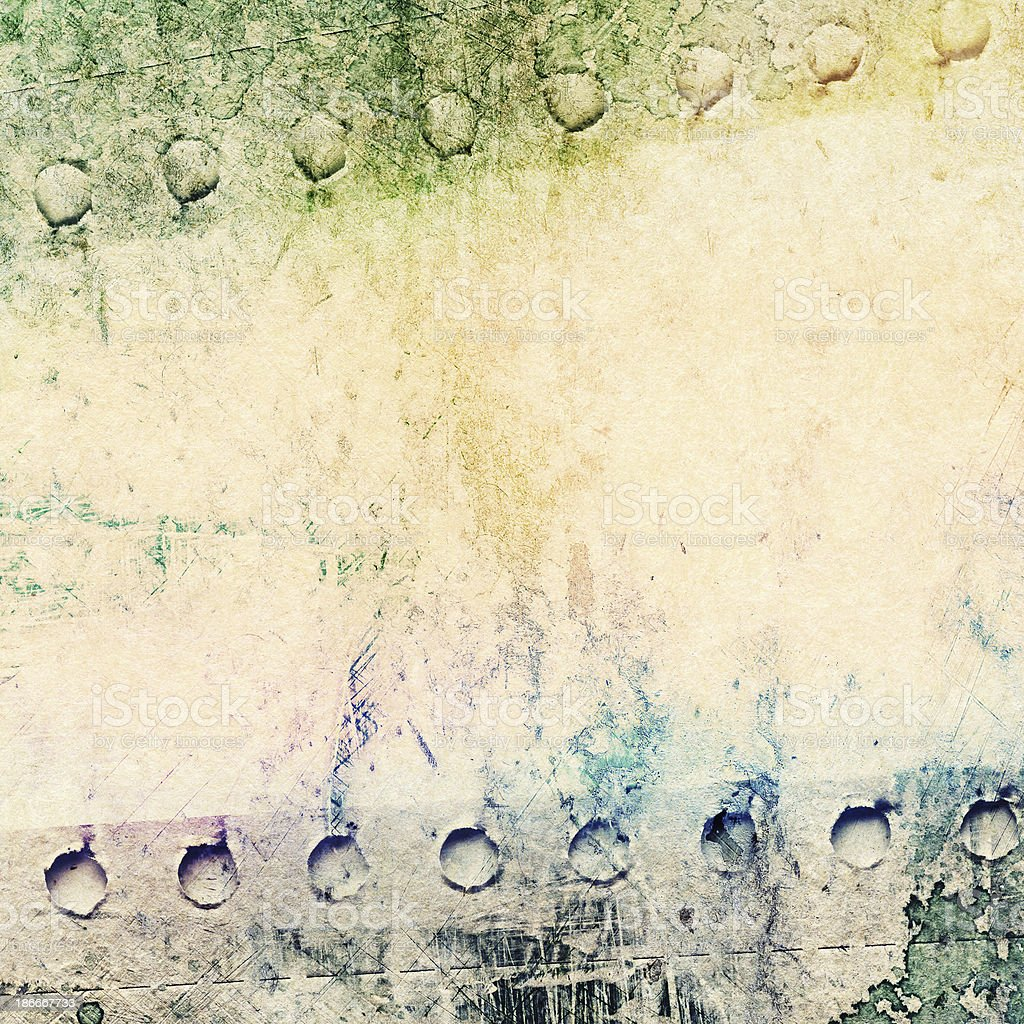 Abstract painted background on collage paper texture stock photo