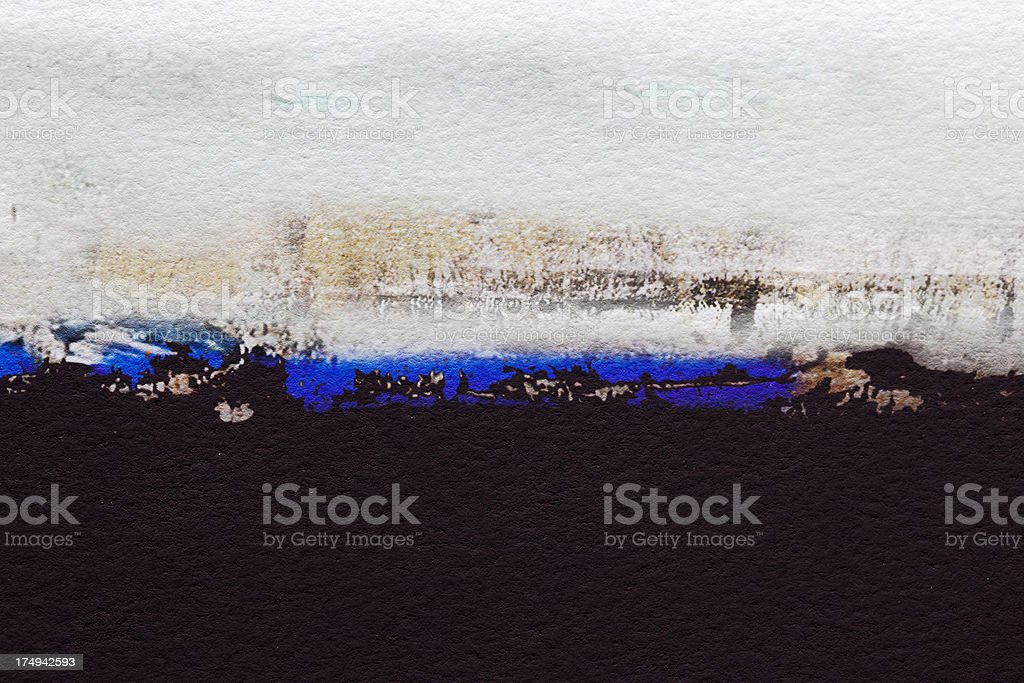 Abstract painted black and blue art backgrounds. royalty-free stock photo