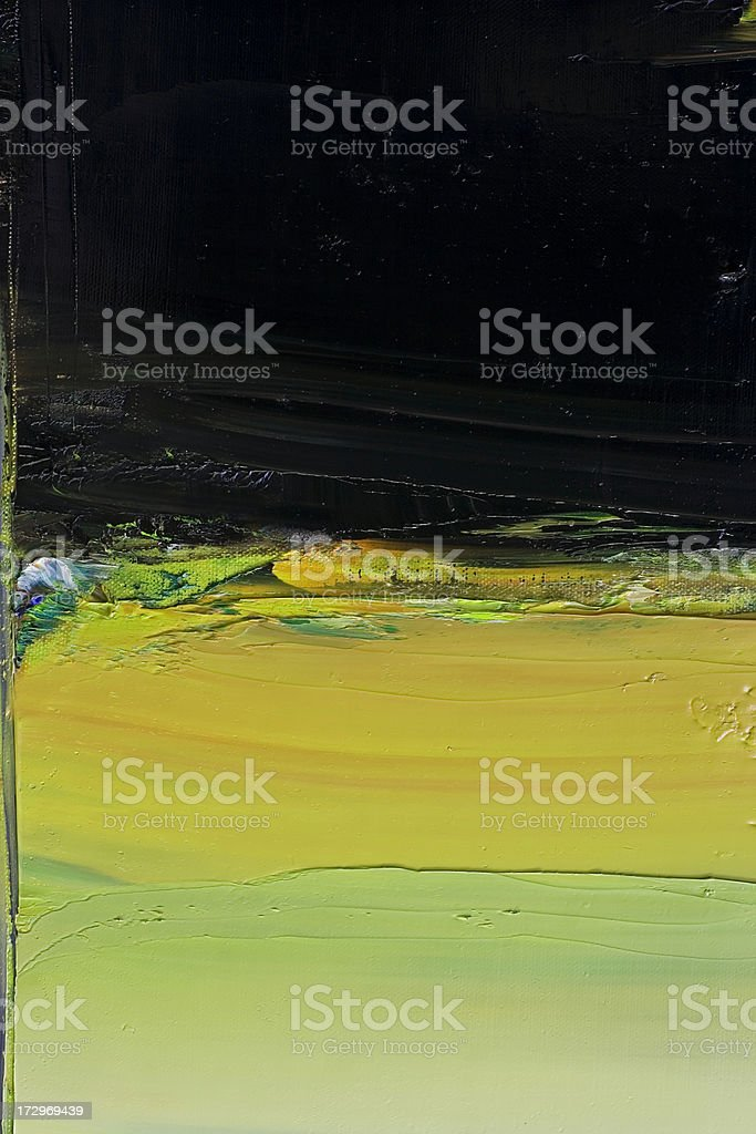 Abstract painted  black and green art backgrounds. royalty-free stock photo