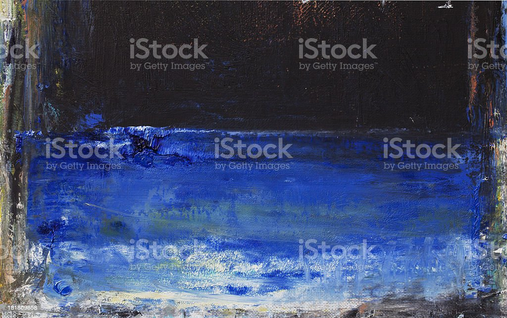 Abstract painted blue and black  art backgrounds. royalty-free stock photo