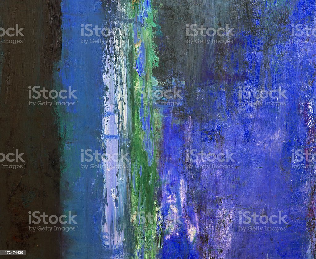 Abstract painted blue and green  art backgrounds. royalty-free stock photo