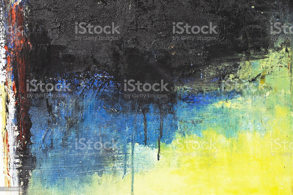 Abstract painted blue and green art backgrounds. royalty-free stock vector art