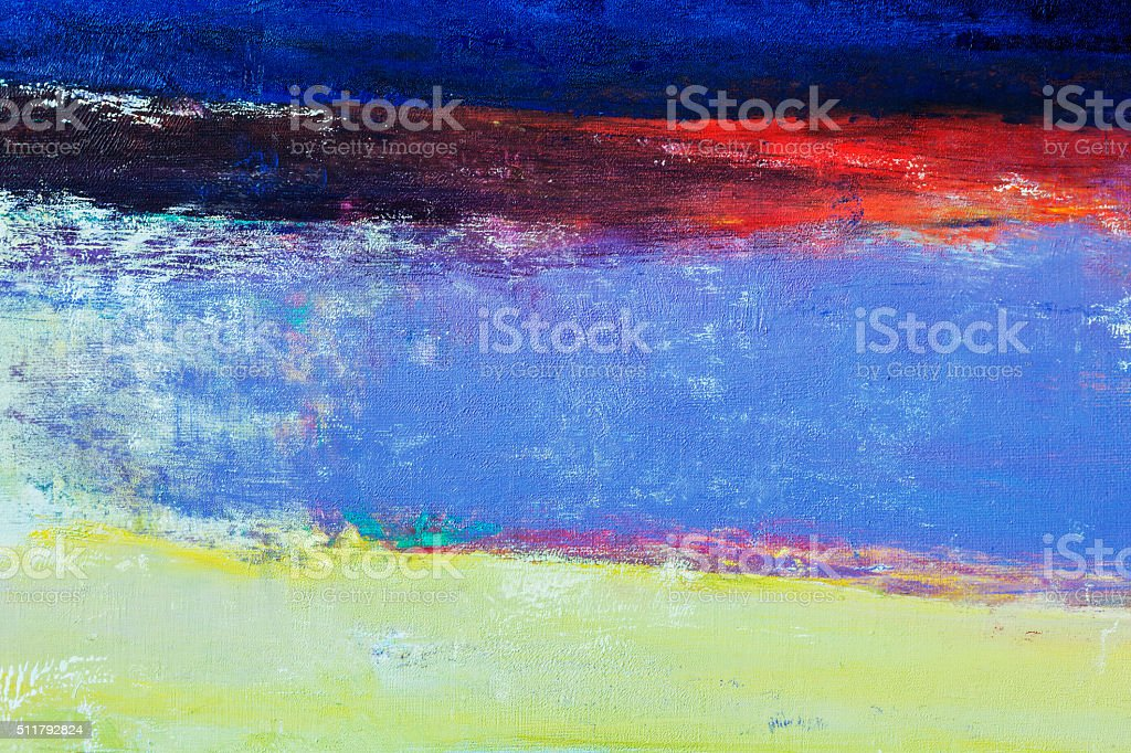Abstract painted blue  and green art backgrounds. stock photo