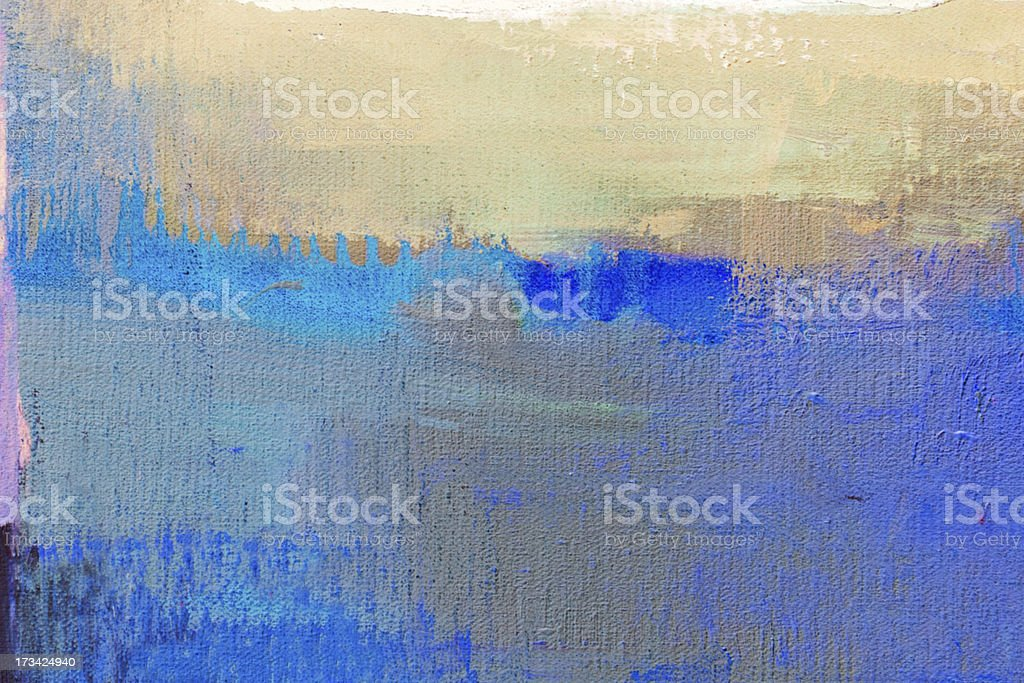 Abstract painted blue and ocher art backgrounds. royalty-free stock photo