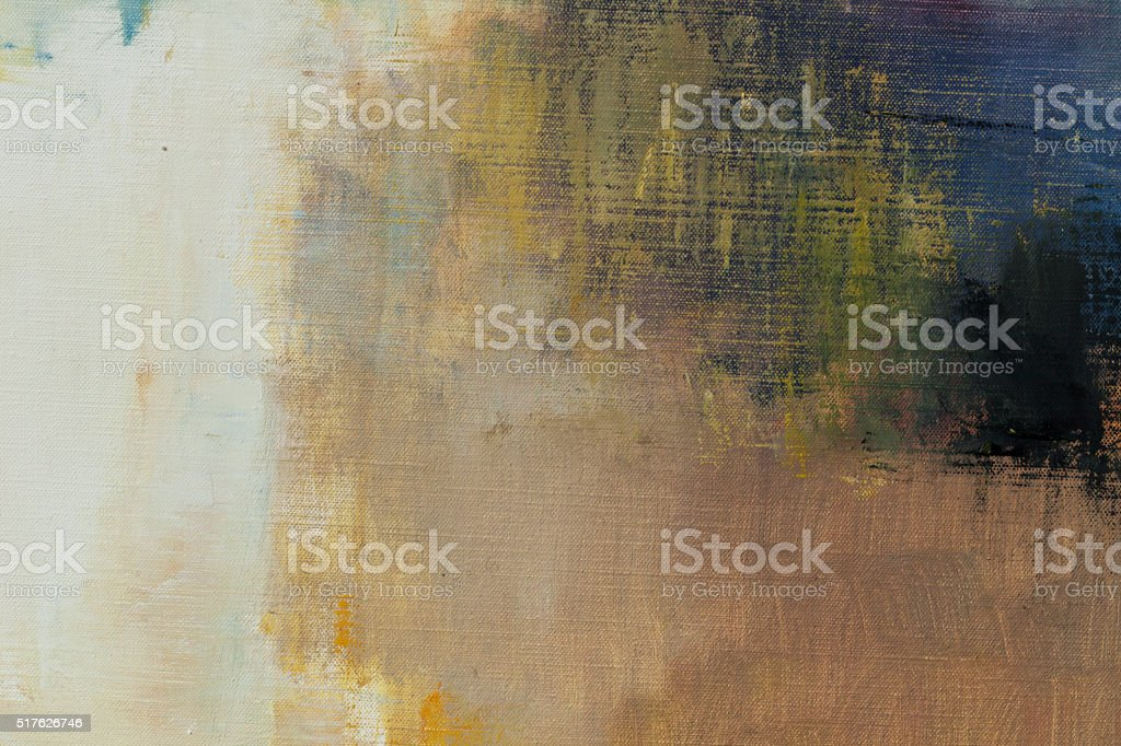 Abstract painted blue  and ocher art backgrounds. stock photo