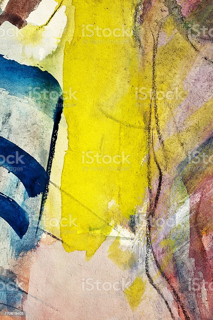 Abstract painted blue and yellow  art backgrounds. royalty-free stock vector art