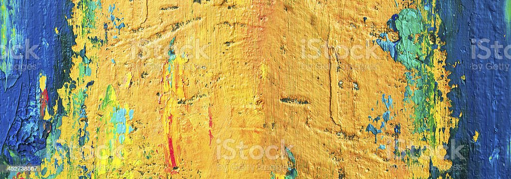 Abstract painted blue and yellow  art backgrounds. royalty-free stock photo