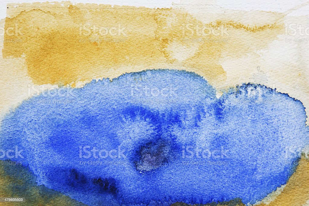 Abstract painted  blue and yellow   art backgrounds. vector art illustration