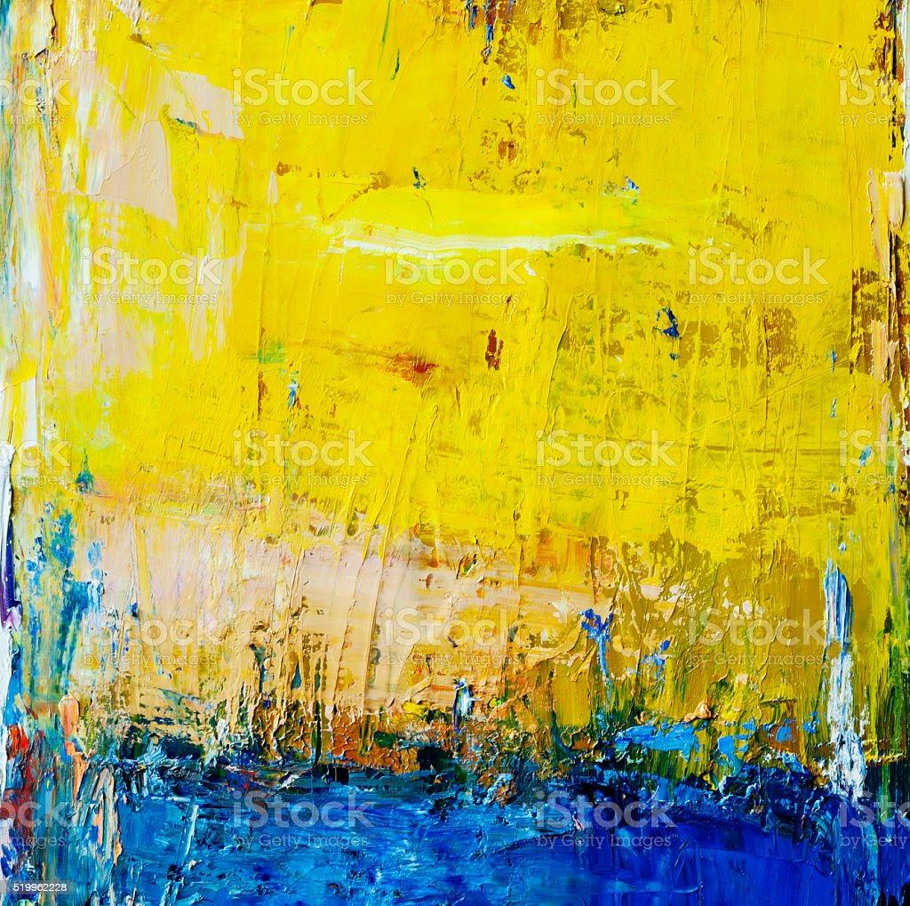 Dipinti astratti blu e giallo arte sfondi foto di stock for Immagini dipinti astratti