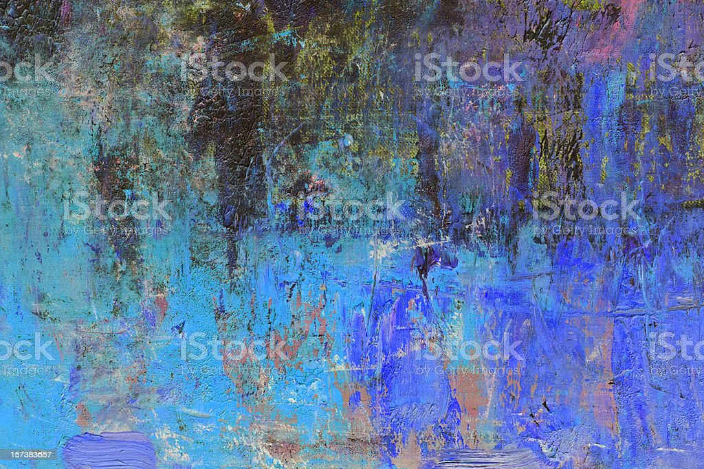 Abstract painted  blue art backgrounds. royalty-free stock photo