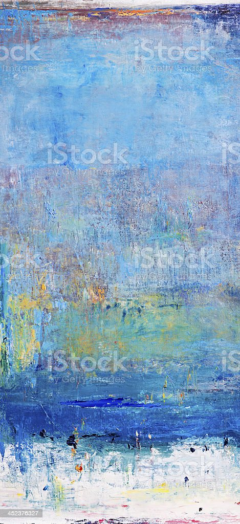 Abstract painted blue green  art backgrounds. royalty-free stock photo