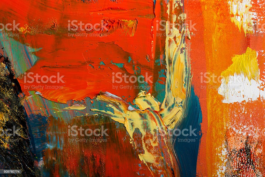 Abstract painted canvas. Oil paints on a palette. Colorful background. vector art illustration
