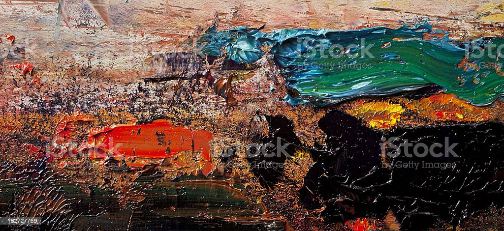 Abstract painted deep red, green and black art backgrounds. royalty-free stock photo