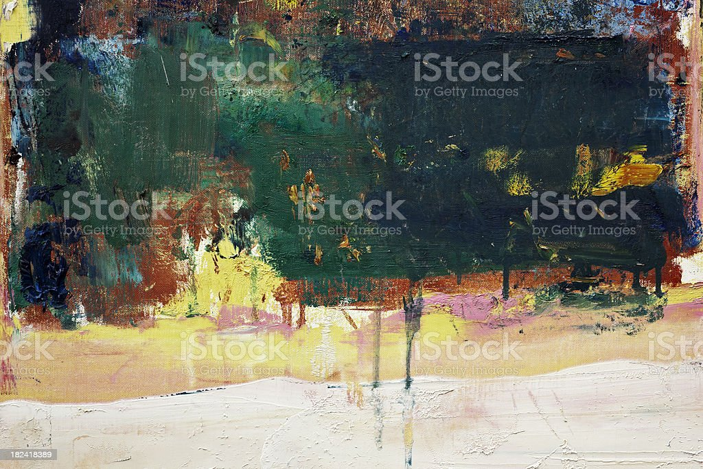Abstract painted green and black art backgrounds. royalty-free stock photo