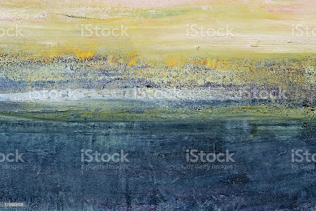 Abstract painted green and blue art backgrounds. stock photo