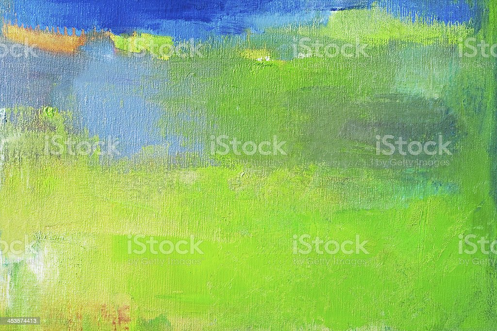 Abstract painted green and blue art backgrounds. royalty-free stock photo