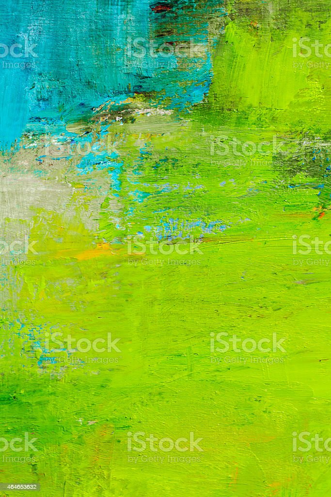 Abstract painted green and blue art backgrounds. vector art illustration