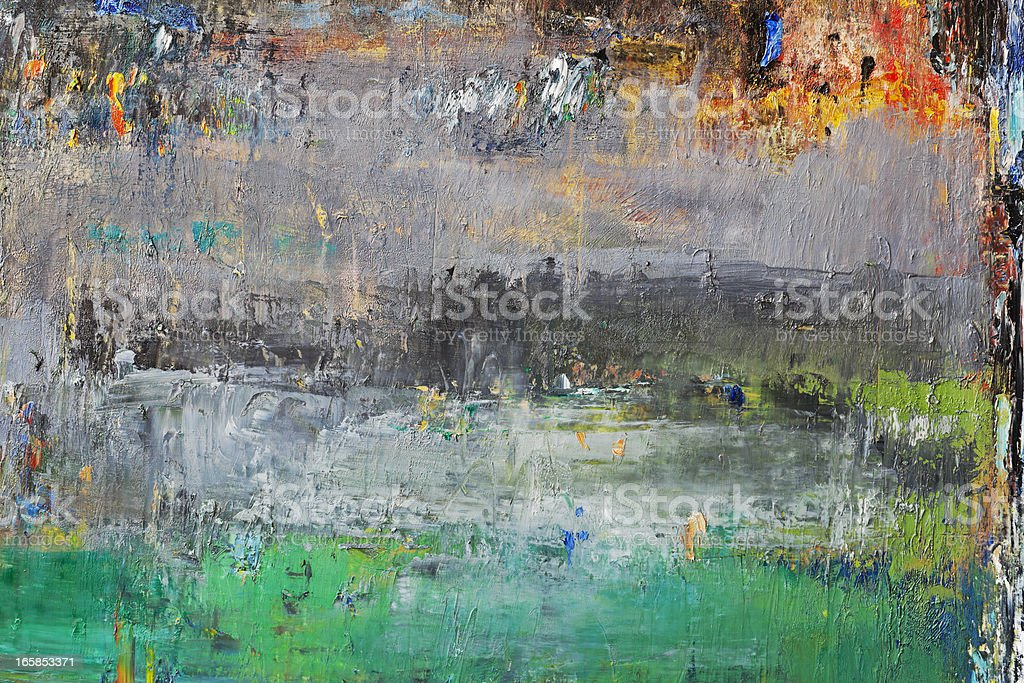 Abstract painted green and gray art backgrounds. royalty-free stock photo