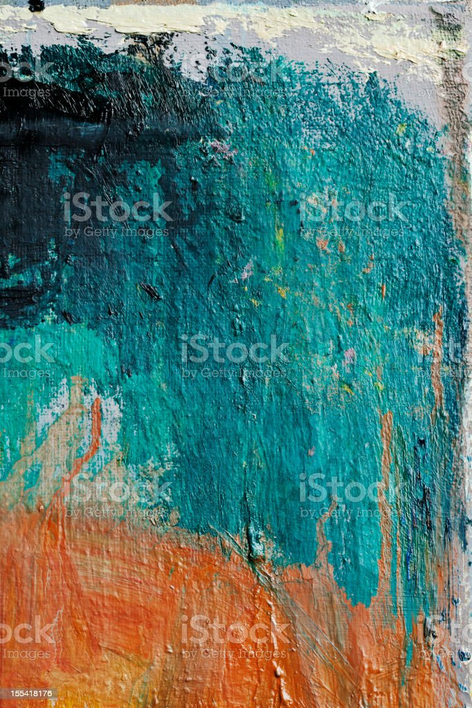 Abstract painted  green and orange art backgrounds royalty-free stock photo