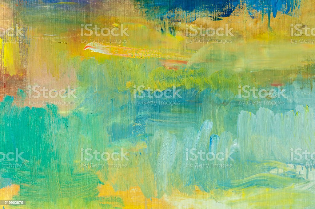Abstract painted green and yellow art backgrounds. stock photo