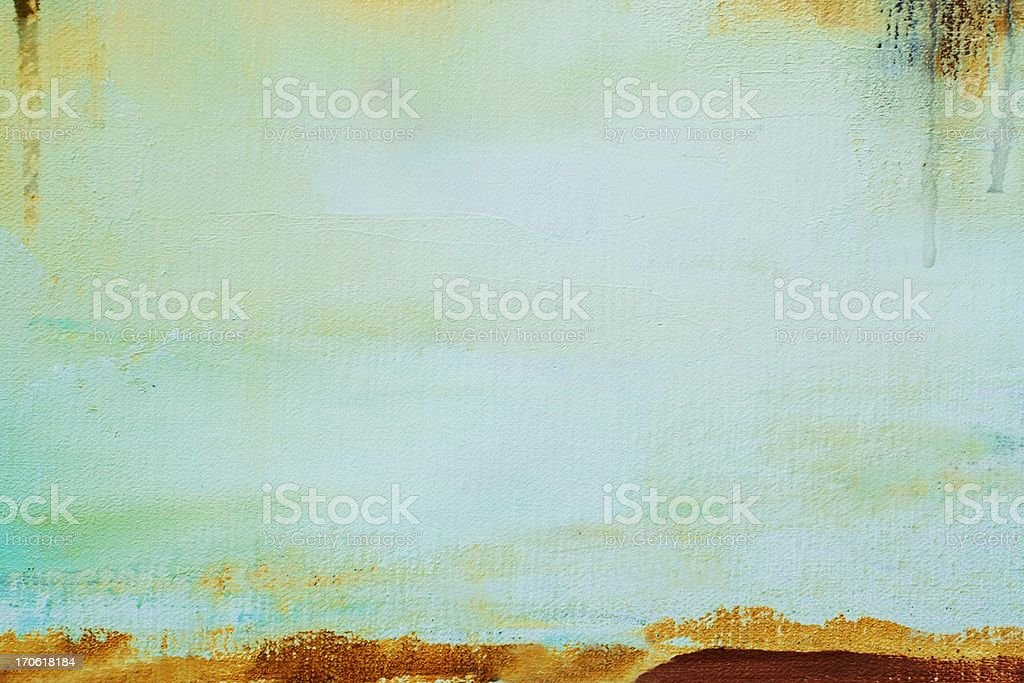 Abstract painted green art backgrounds. vector art illustration