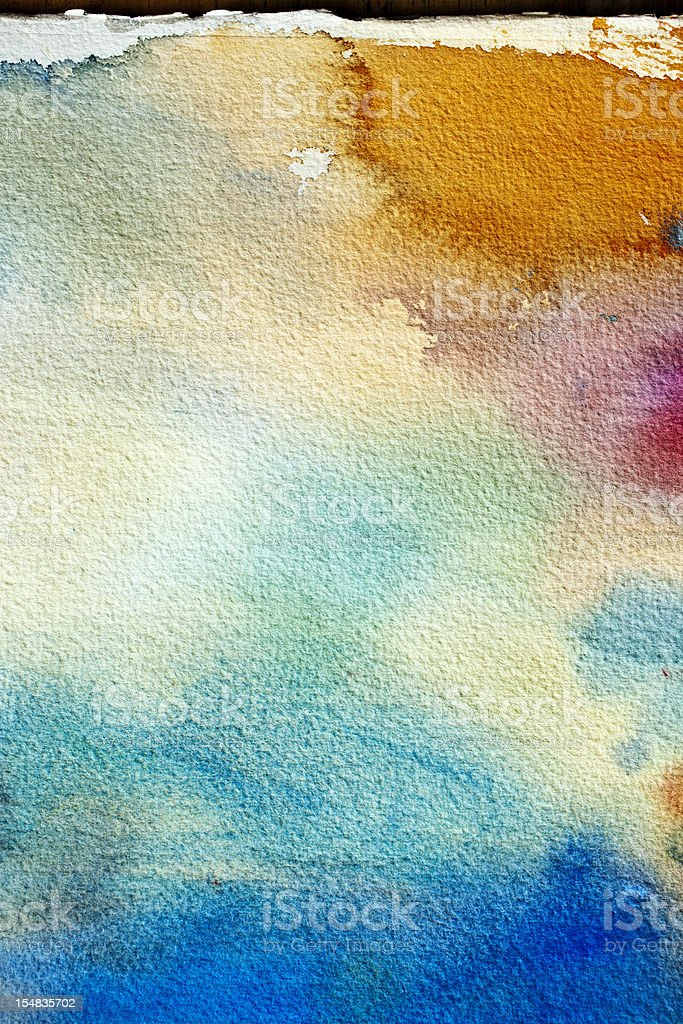Abstract painted green blue  and orange art backgrounds. royalty-free stock photo