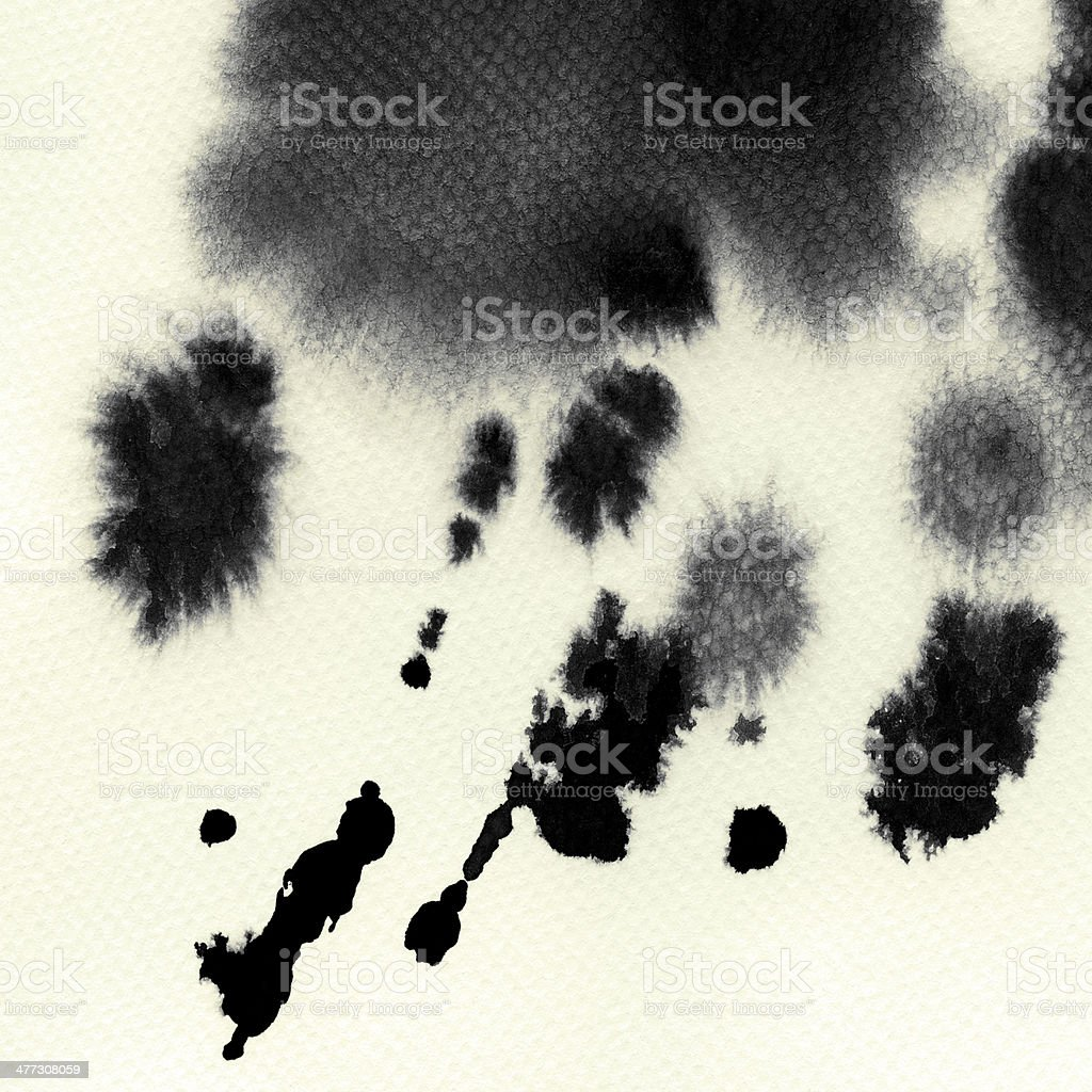 Abstract painted grunge watercolor stains stock photo