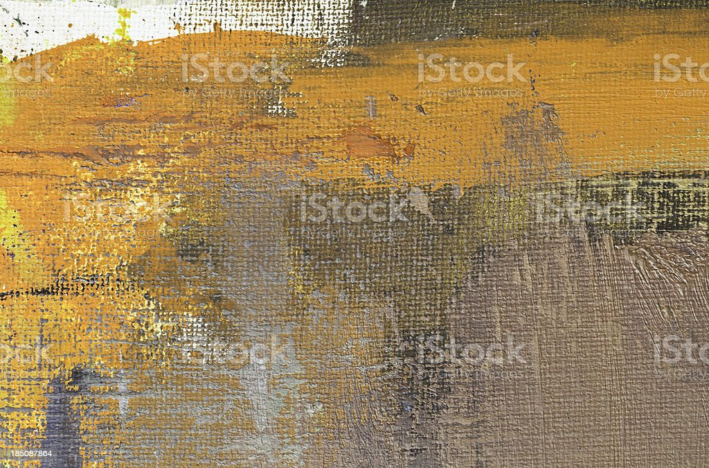 Abstract painted ocher painted background texture royalty-free stock photo