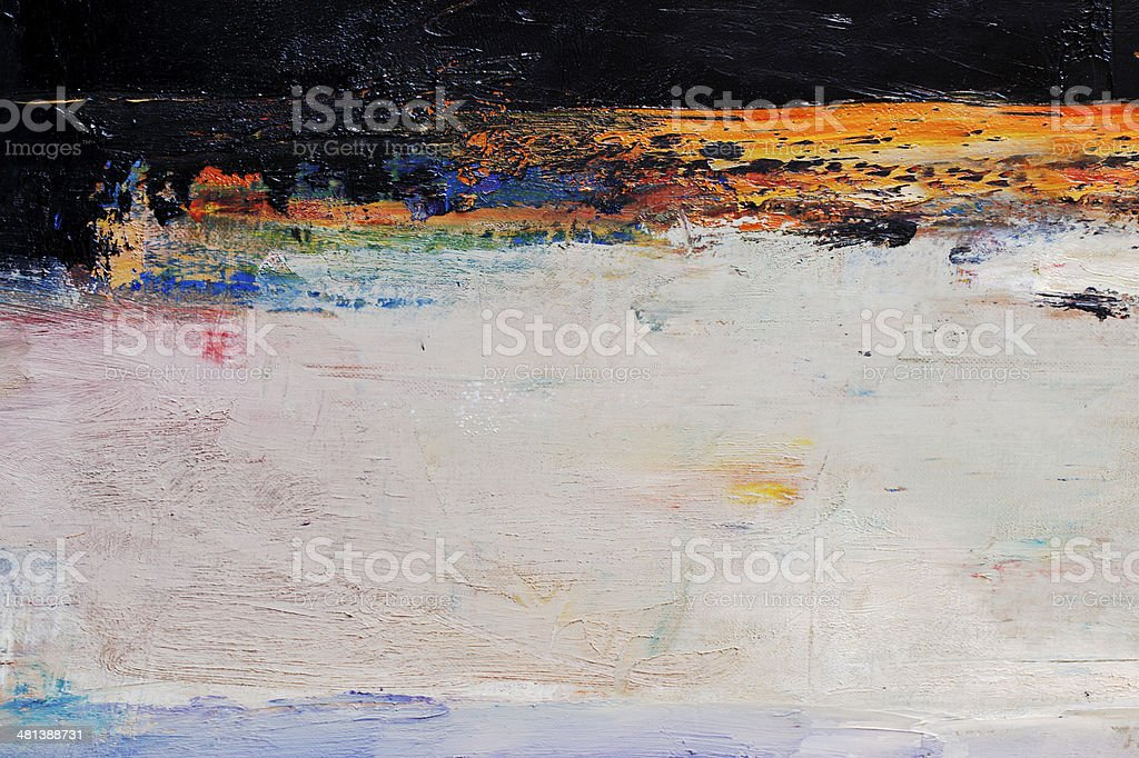Abstract painted orange and black art backgrounds. royalty-free stock photo
