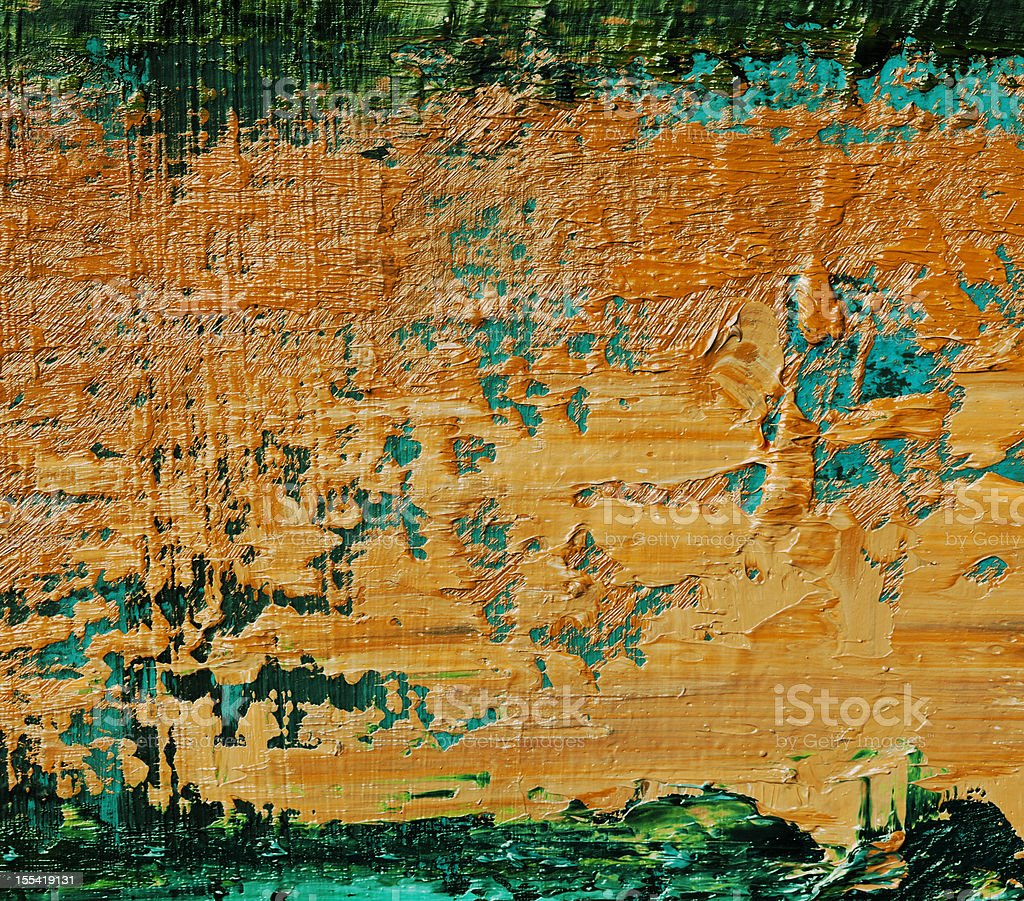 Abstract painted orange and green art backgrounds. royalty-free stock vector art