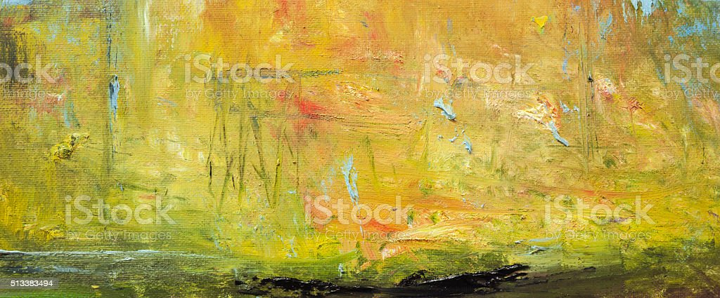 Abstract painted orange and green art backgrounds. stock photo