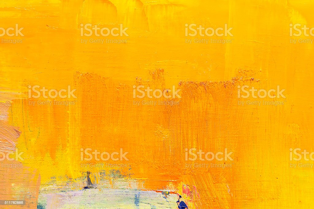 Abstract painted orange  art backgrounds. vector art illustration