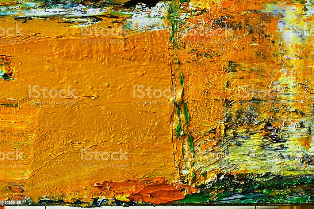 Abstract painted  orange art backgrounds. stock photo