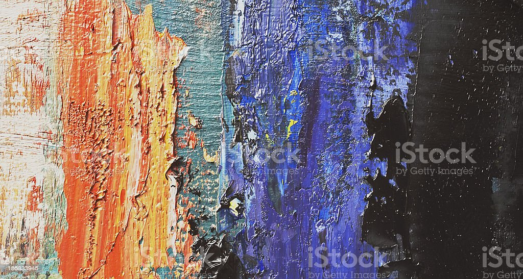 Abstract painted orange,blue and black art backgrounds. royalty-free stock photo