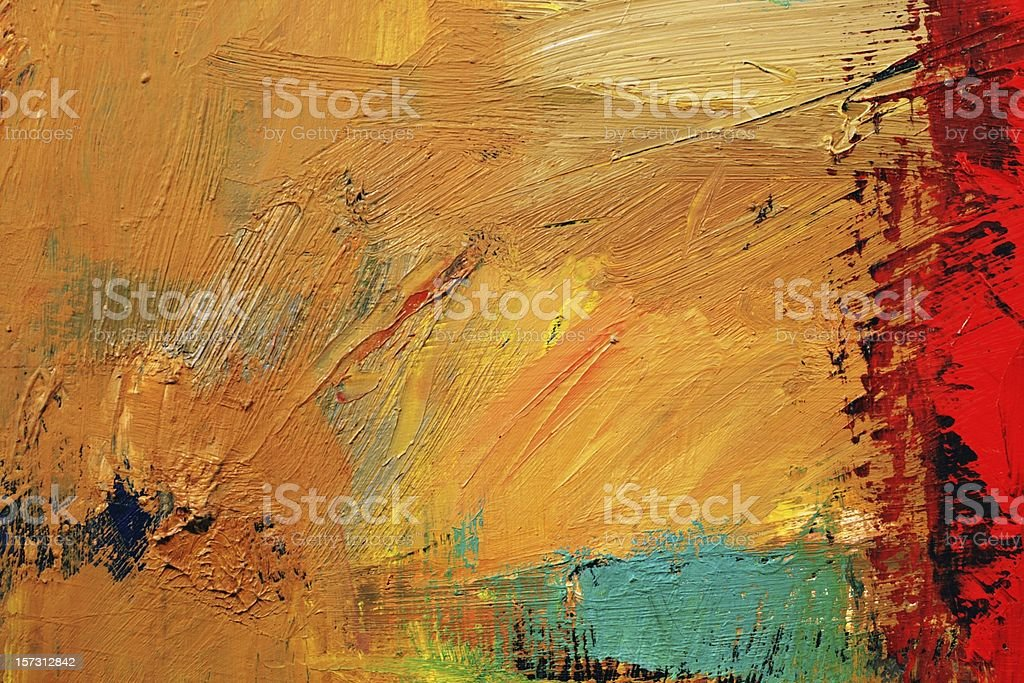 Abstract painted red and yellow art backgrounds. vector art illustration